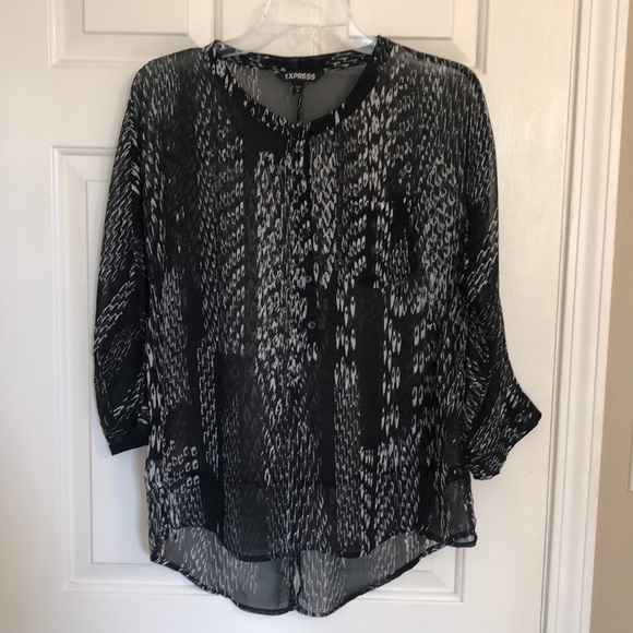Express Tops - Express black and white blouse
